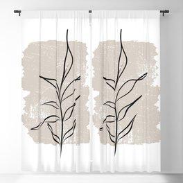 Botanical line No 3 Blackout Curtain