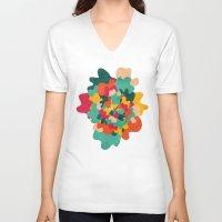 camo V-neck T-shirts featuring Aloha Camo by Picomodi