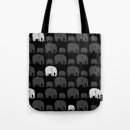 Elephant Black Tote Bag