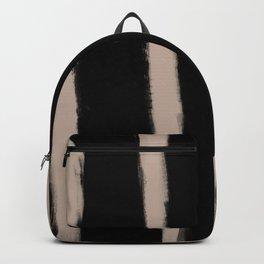 Medium Brush Strokes Vertical Nude on Black Backpack