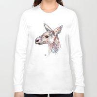 kangaroo Long Sleeve T-shirts featuring Kangaroo by Ursula Rodgers