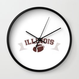 Just a Baller from Illinois Football Player Wall Clock