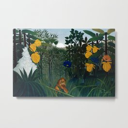 Henri Rousseau - The Repast of the Lion Metal Print