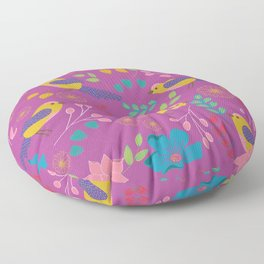 Pink Botanical Garden Floor Pillow