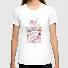 Parfum Perfume Fashion Floral Flowers Blooming Bouquet T-shirt