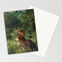 Little Red Riding Hood by Carl Larsson Stationery Cards