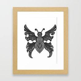 Butterfly zentangle Framed Art Print