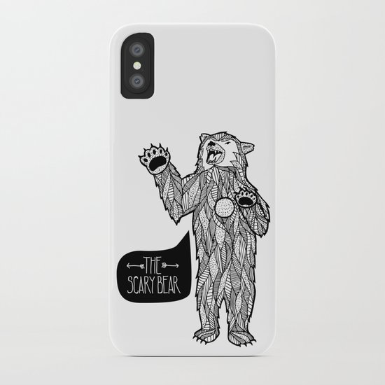 Scary Bear 2 iPhone Case