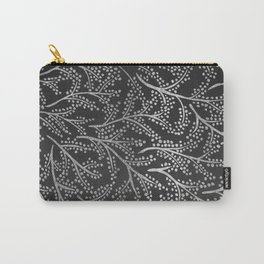 Silver Branches Carry-All Pouch