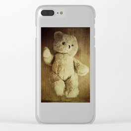 Old Teddy Bear Clear iPhone Case
