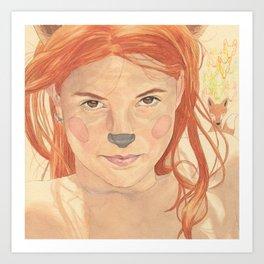 The fox girl Art Print