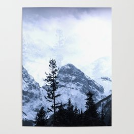 Mystic Three Sisters Mountains - Canadian Rockies Poster
