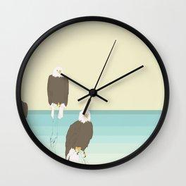 Bald Eagles Wall Clock