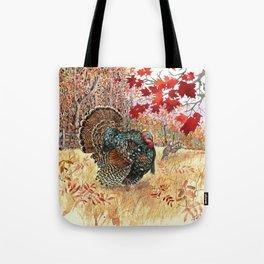 Woodland Turkey Tote Bag