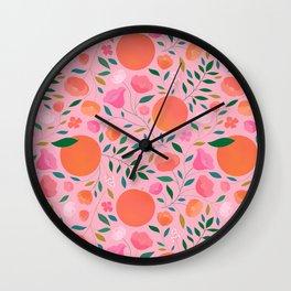 Apricots Wall Clock