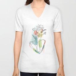 Flowerhead Femme No. 2 Unisex V-Neck