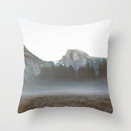 Morning Mist, Yosemite Throw Pillow