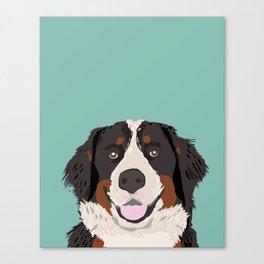 Bernese Mountain Dog pet portrait dog art illustration fur baby dog breed unique gift for dog lover  Canvas Print