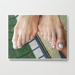 White Toes Metal Print