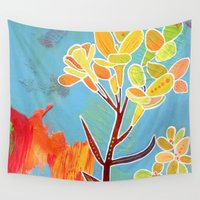 western Wall Tapestries featuring Western Wallflower by Artist