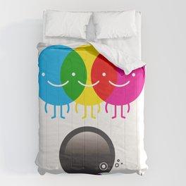 CMY makes K dizzy Comforters