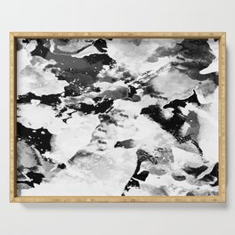 Blk Marble Serving Tray