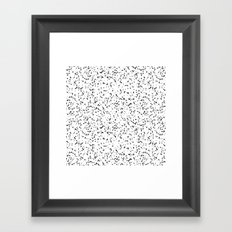 Speckles I: Double Black on White Framed Art Print