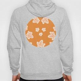 Orange Palmate Leaf Pattern Hoody
