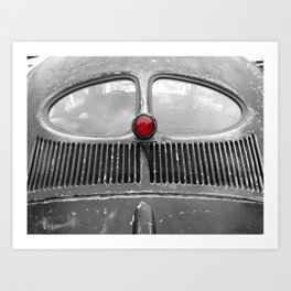 stop – classic vintage car rear window Art Print