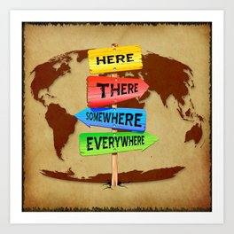 Directions Panels Wanderlust Art Print
