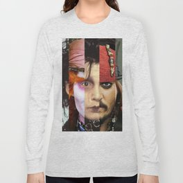 Faces Johnny Depp Long Sleeve T-shirt