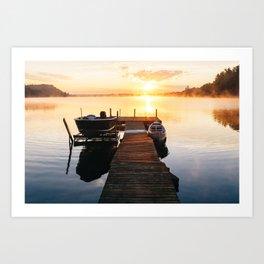 Sunrise at the Cottage Art Print