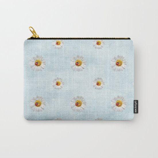 Daisies in love- lightblue pattern Carry-All Pouch
