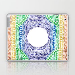 Rainbow Dot Mandala Laptop & iPad Skin