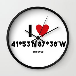 I LOVE CHICAGO Wall Clock