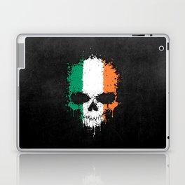 Flag of Ireland on a Chaotic Splatter Skull Laptop & iPad Skin