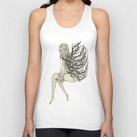 antler Tank Tops featuring ANTLER by auntikatar