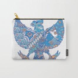 batik culture on garuda silhouette illustration Carry-All Pouch