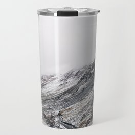 Honister Pass covered in snow. Cumbria, UK. Travel Mug