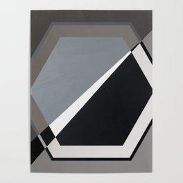 London - hexagon Poster
