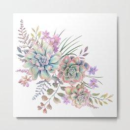 succulent watercolor 12 Metal Print