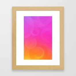 Sunset pattern Framed Art Print