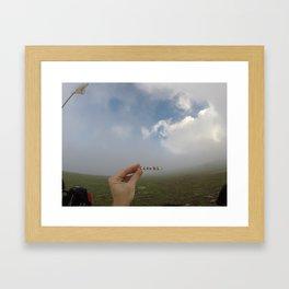 Analog Cloud Label  Framed Art Print