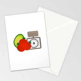 Avocado Tomatoes Vegetables Vector Graphic Stationery Cards