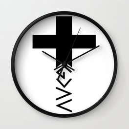God is greater than the highs and lows Cross Wall Clock