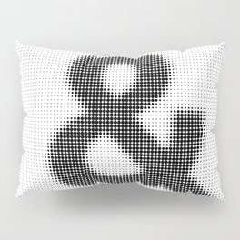 Halftone Ampersand Sans Serif Pillow Sham