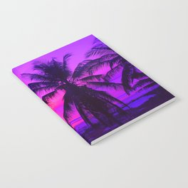 Pink Palm Trees by the Indian Ocean Notebook
