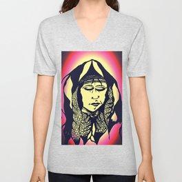 Peaceful Native American - Unisex V-Neck