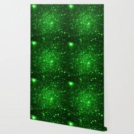 gAlAXy Green Sparkle Stars Wallpaper