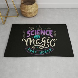 Science is Magic That Works Rug